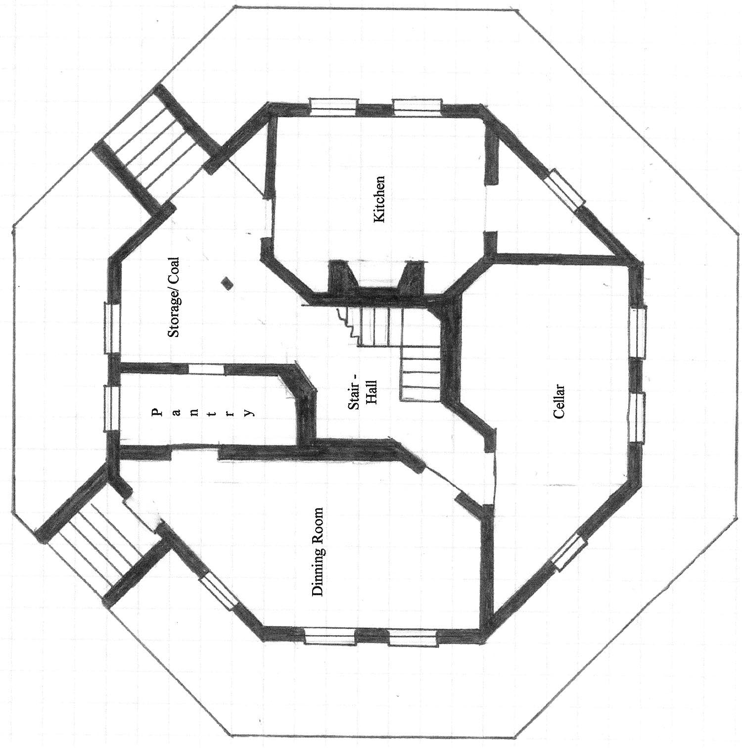 Octagon house plans blueprints joy studio design gallery for Octagon shape house plans