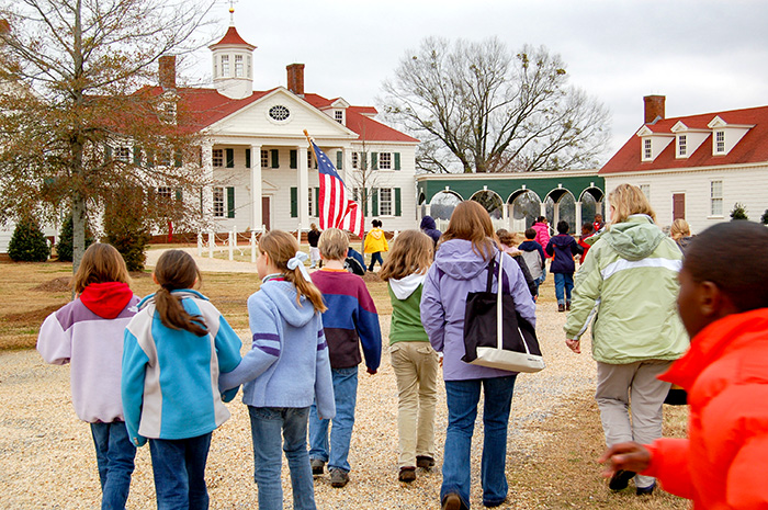 An Alabama elementary school class visits American Village, a living-history park centered on the theme of liberty and the founding of the United States located in Montevallo, Shelby County.