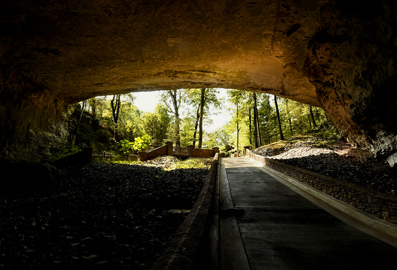 Cathedral Caverns, in Marshall County, was originally named Bats Cave.