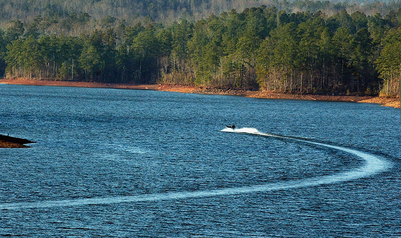 Lake Wedowee is the local name for Harris Reservoir, located in western Randolph and eastern Clay counties.