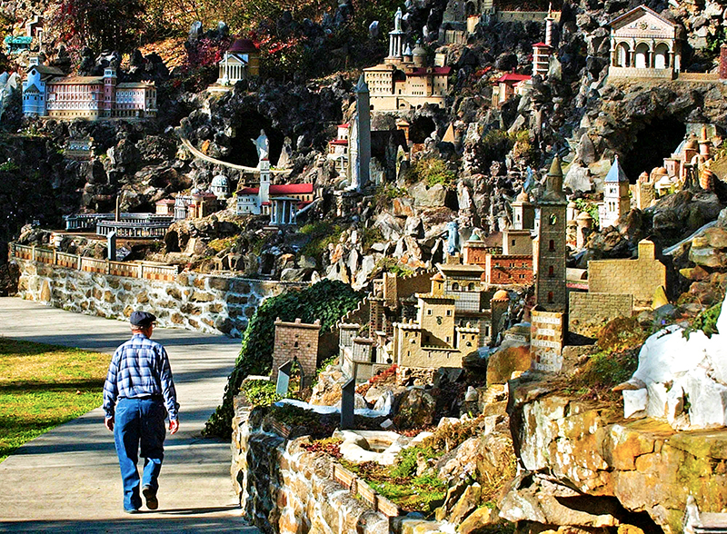 The Ave Maria Grotto is located in Cullman on the grounds of Saint Bernard Abbey, the state's only Benedictine monastery.