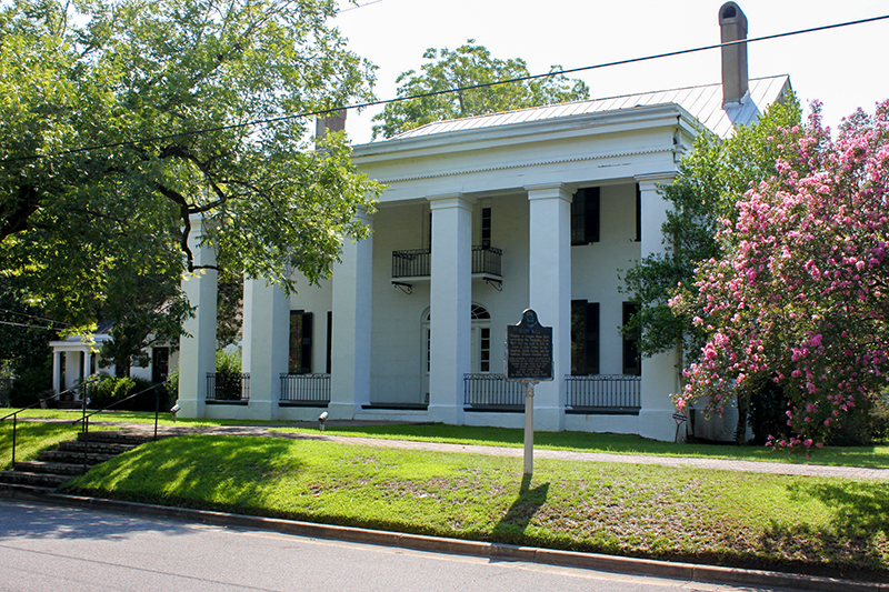 Bluff Hall, built in 1832 by plantation owner Allen Glover, is among the many historic homes still standing in Demopolis.