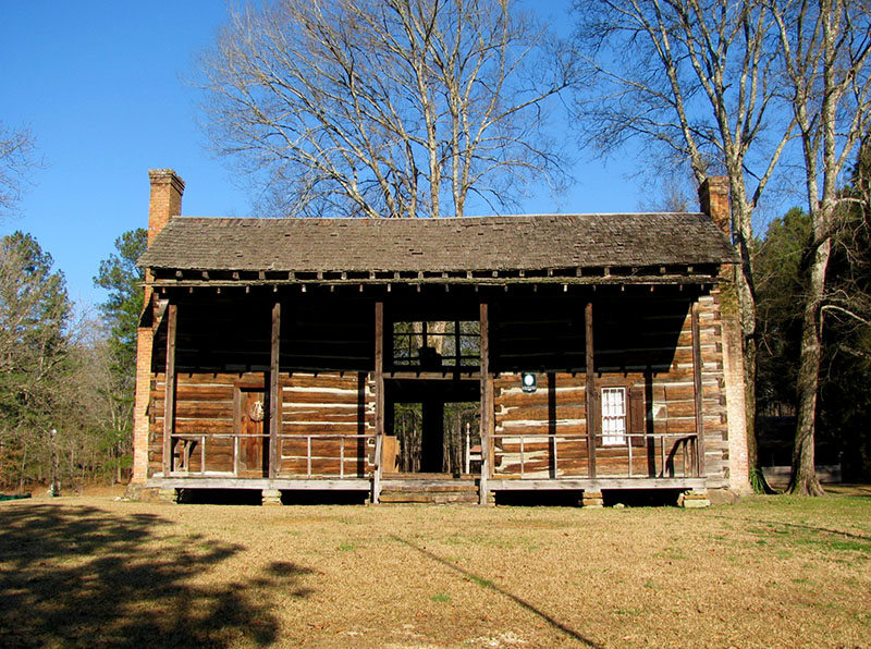 The John Looney House near Ashville, St. Clair County, is an outstanding example of the