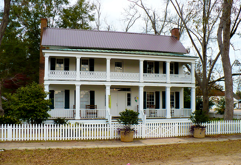 The Clarke County Historical Museum is located in the Greek Revival-style Alston-Cobb House, headquarters of the Clarke County Historical Society.
