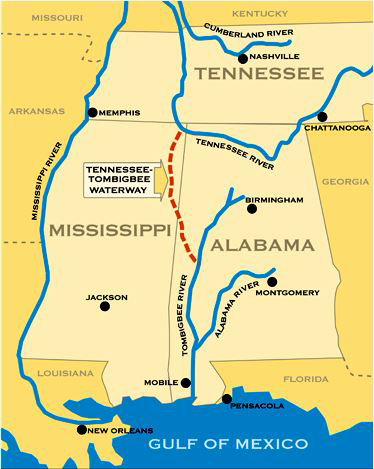 Tennessee-Tombigbee Waterway   Encyclopedia of Alabama on ky and tn, map of alabama and ms, map of kentucky and tenn border, map of florida georgia and tennessee, 1940 map nashville tn, map of carolina's and georgia, map florida to tennessee, map of alabama and ge, map of florida alabama border, map of alabama and surrounding states, map of north alabama and tennessee, map of tennessee alabama border, map of haleyville alabama,