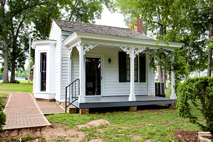 This cottage on the grounds of Ivy Green in Tuscumbia, Colbert County, is the birthplace of Helen Keller.