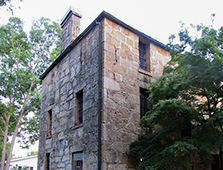 The old Coosa County Jail, also called Old Rock Jail, was built in what would become Rockford in 1842 and is the oldest stone jail in the state.