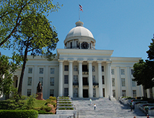 The Alabama State Capitol stands at the heart of Montgomery's historic district.