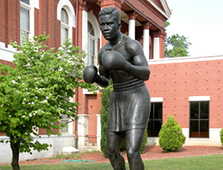 This eight-foot-tall bronze statue of the